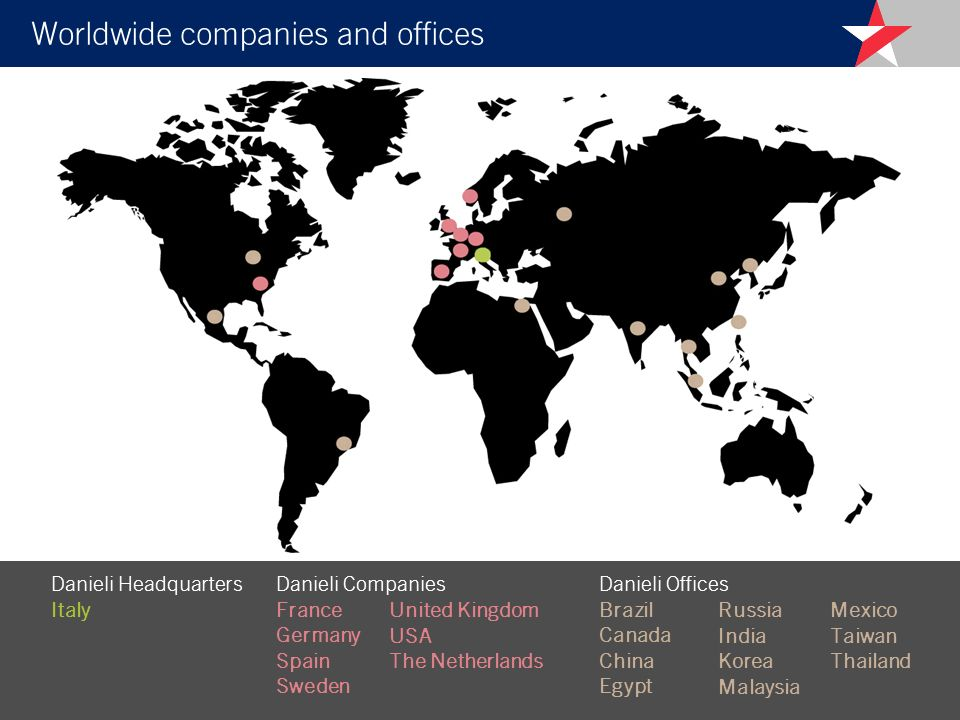 Worldwide companies and offices