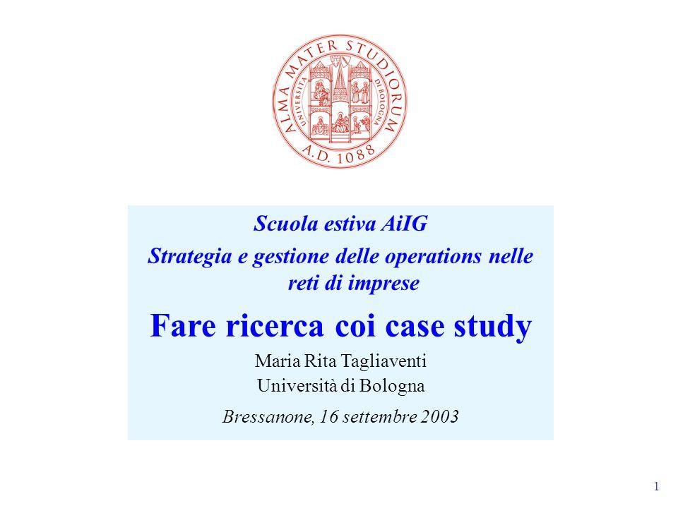 Fare ricerca coi case study