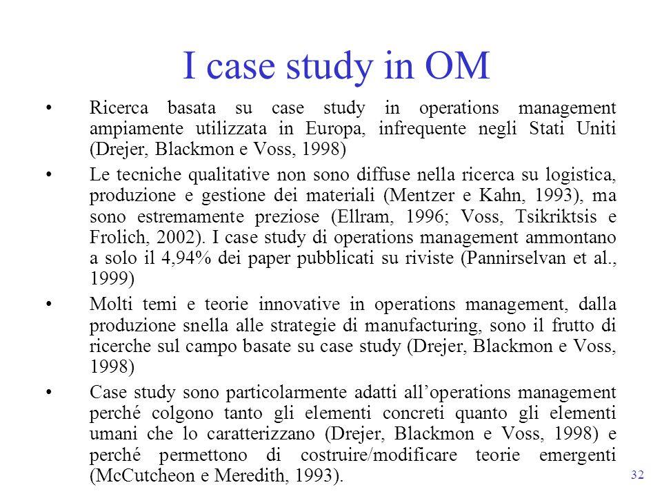 I case study in OM