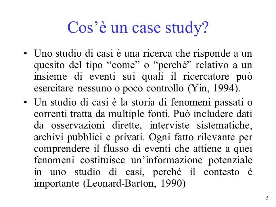Cos'è un case study