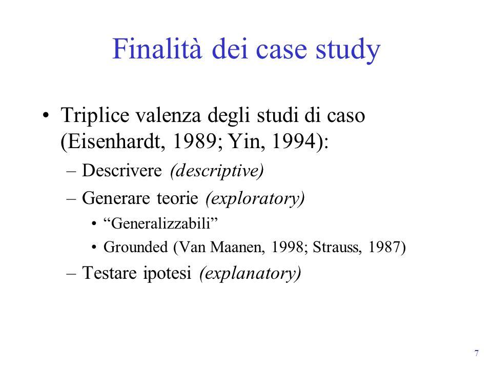 Finalità dei case study