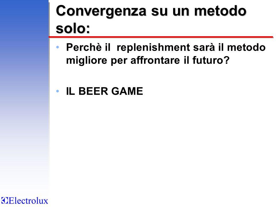 Convergenza su un metodo solo: