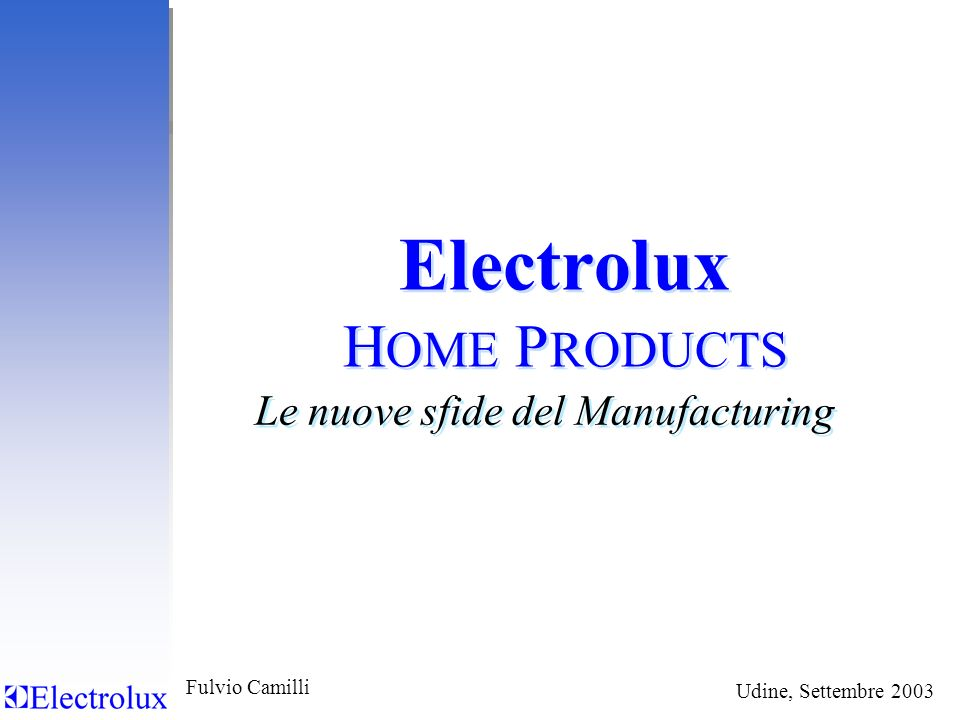 Electrolux HOME PRODUCTS