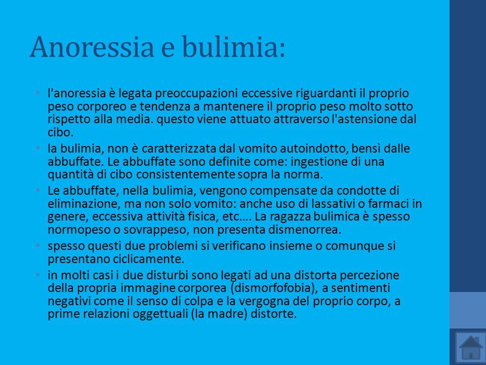 Anoressia e bulimia:
