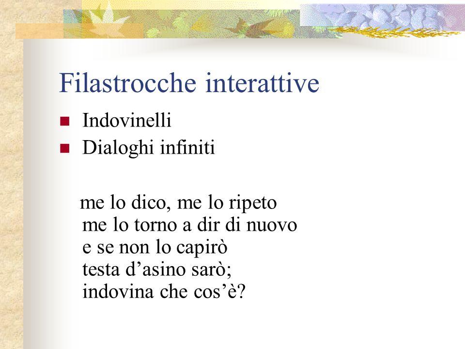 Filastrocche interattive