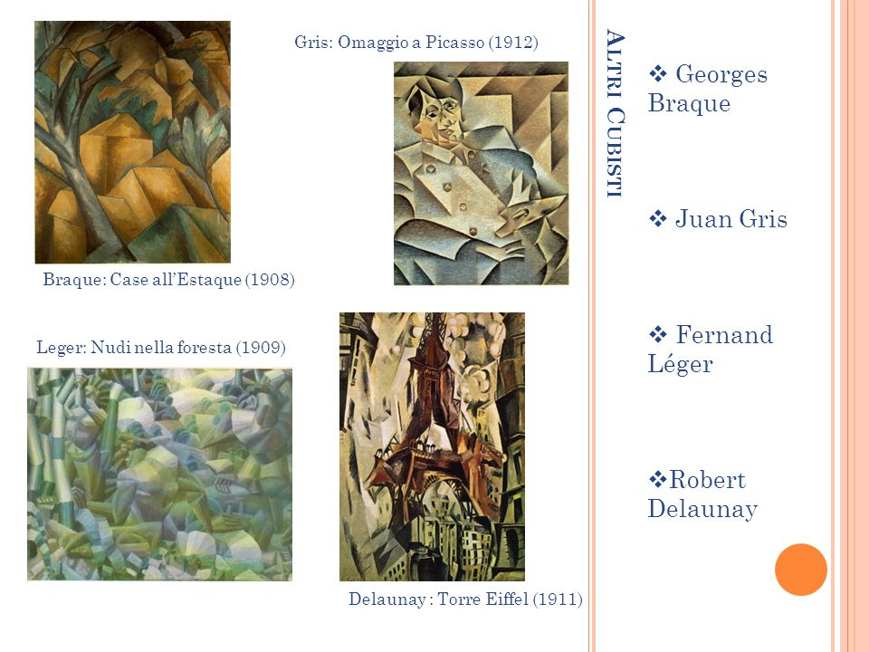 Georges Braque Altri Cubisti Juan Gris Fernand Léger Robert Delaunay