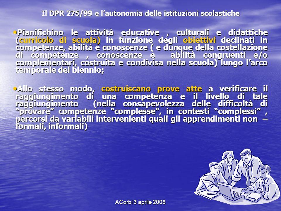 Il DPR 275/99 e l'autonomia delle istituzioni scolastiche