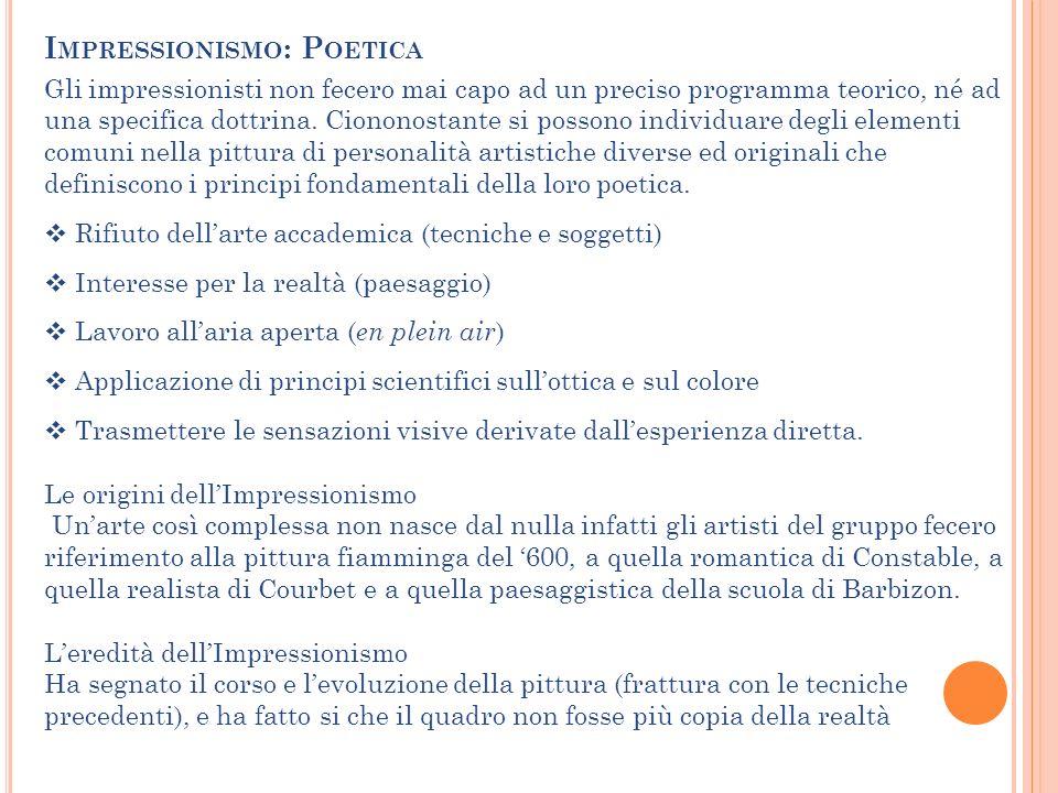 Impressionismo: Poetica