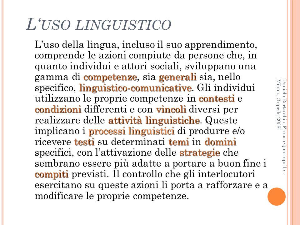 L'uso linguistico