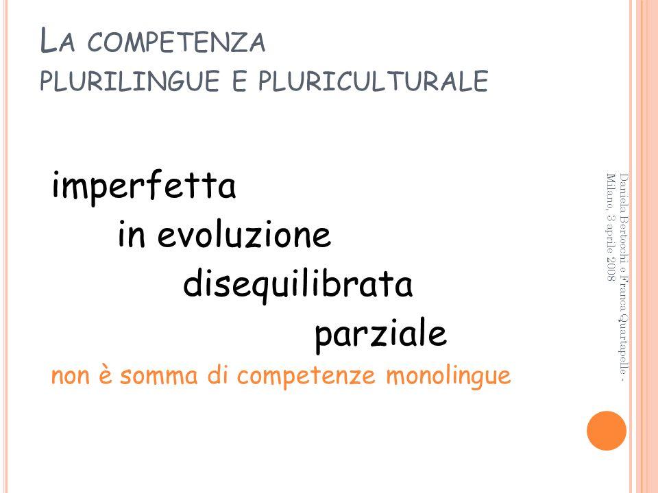La competenza plurilingue e pluriculturale