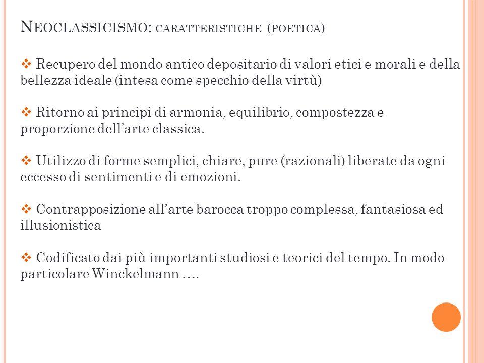 Neoclassicismo: caratteristiche (poetica)