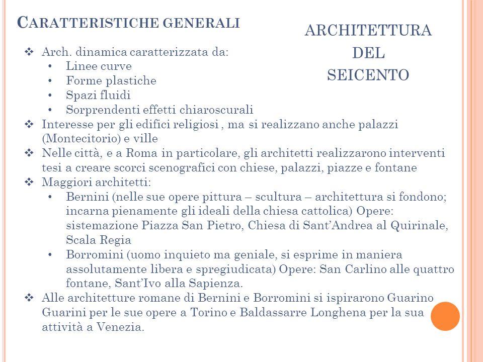 architettura del seicento