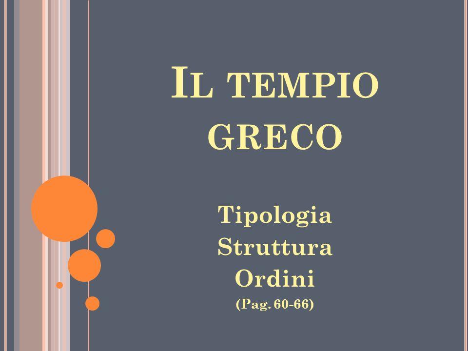 Il tempio greco Tipologia Struttura Ordini (Pag. 60-66)