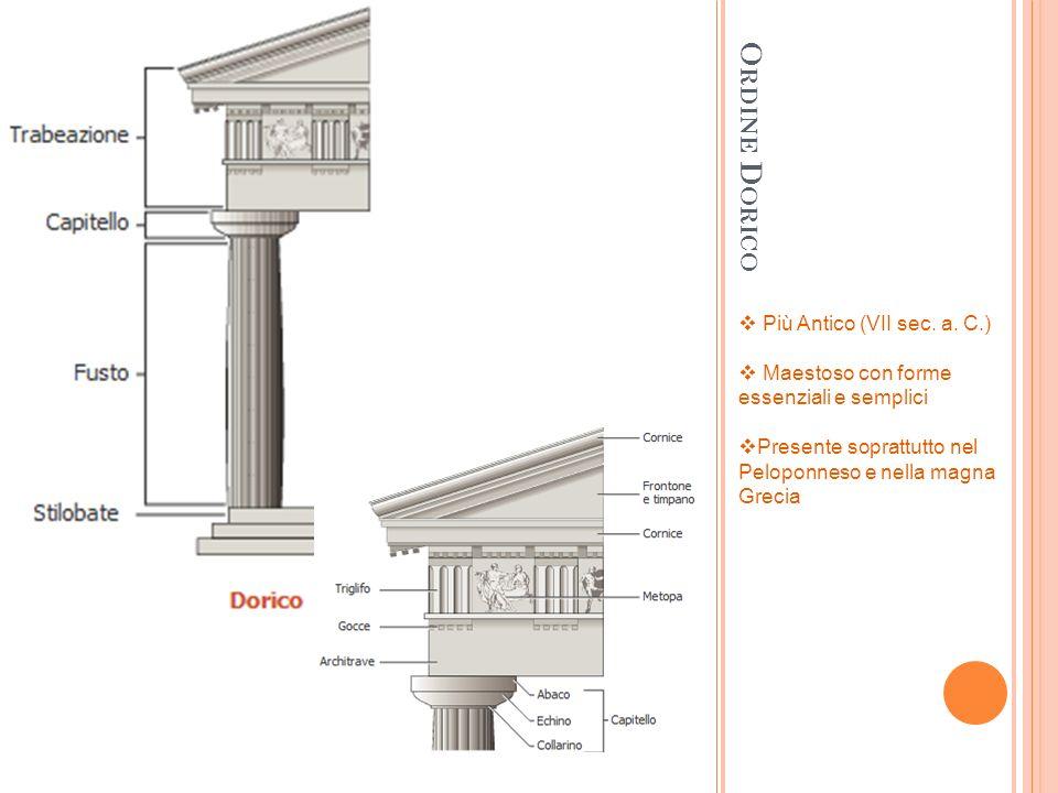 Ordine Dorico Più Antico (VII sec. a. C.)