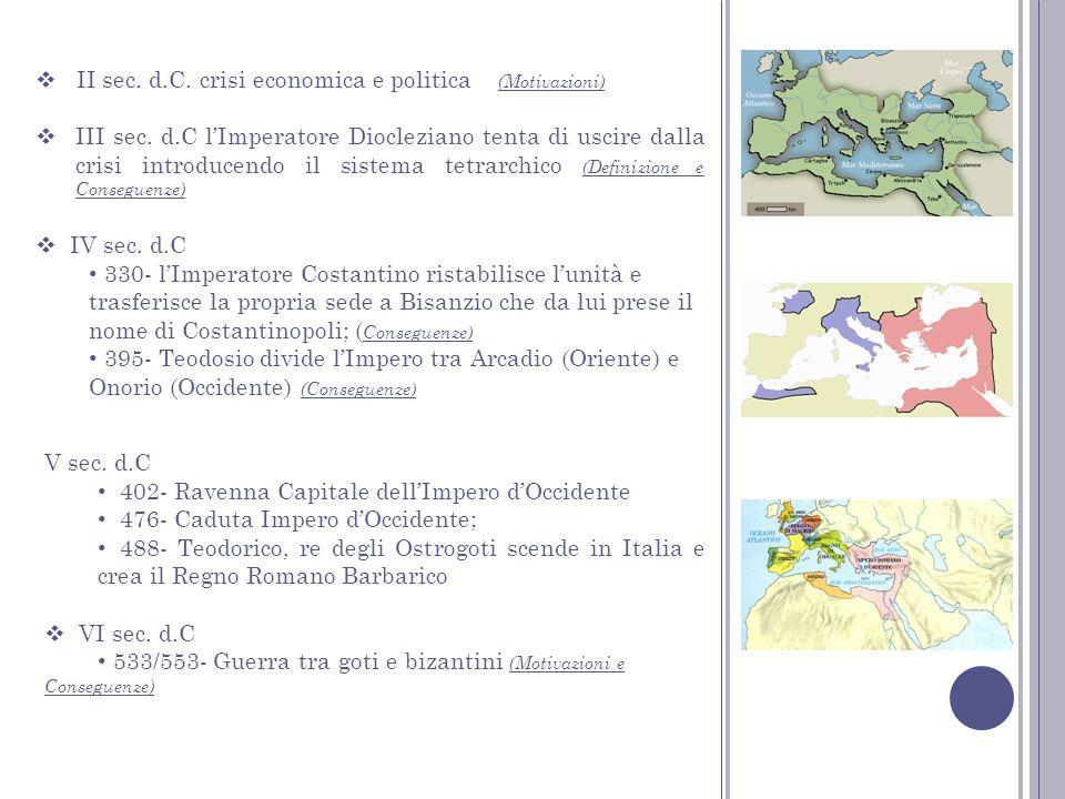 II sec. d.C. crisi economica e politica (Motivazioni)