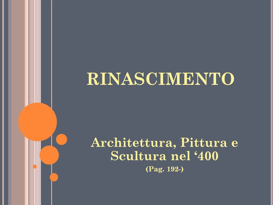 Architettura, Pittura e Scultura nel '400