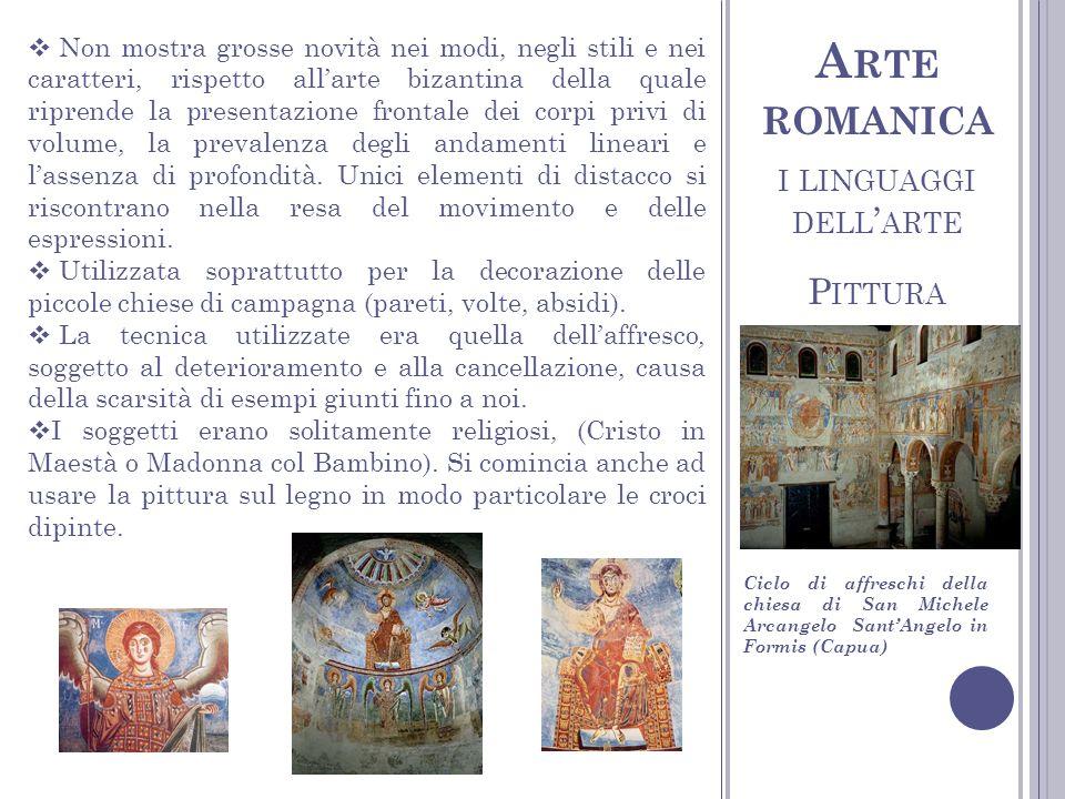 Arte romanica i linguaggi dell'arte Pittura