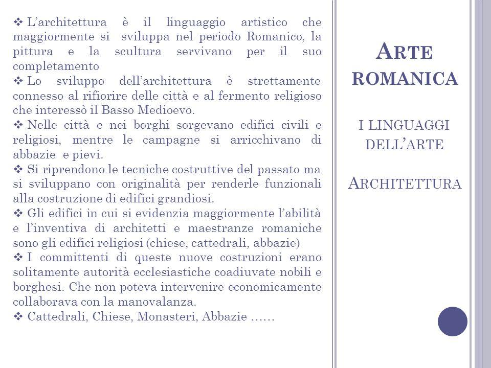 Arte romanica i linguaggi dell'arte Architettura