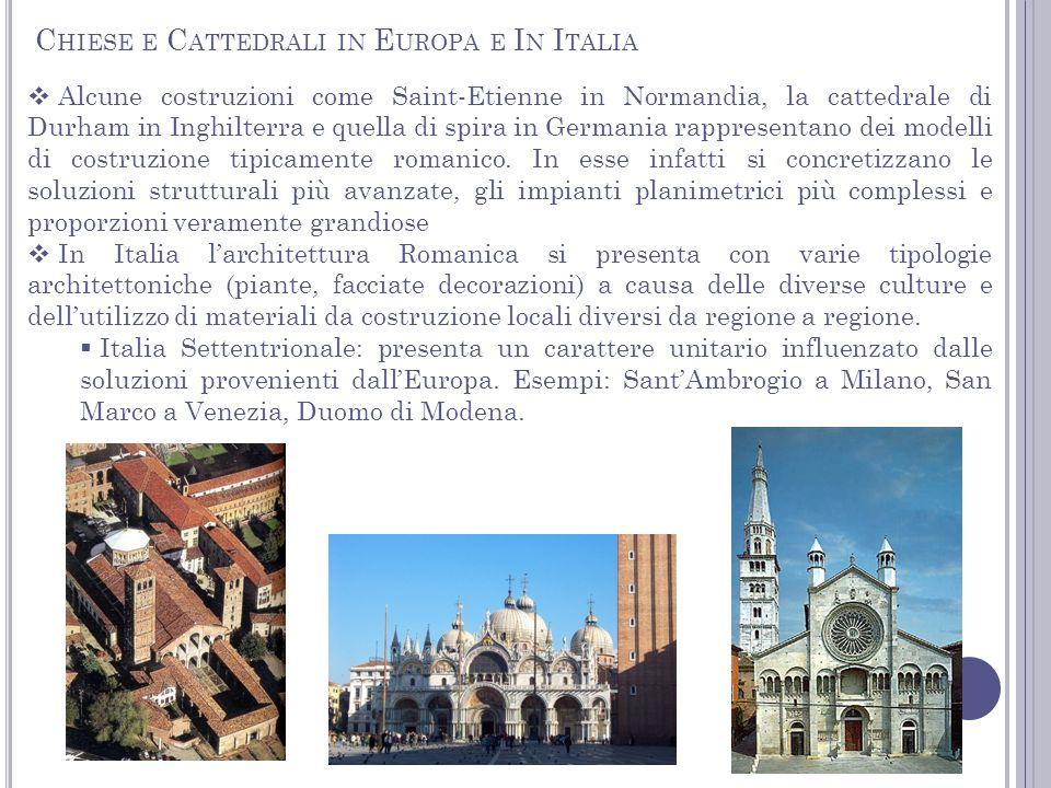 Chiese e Cattedrali in Europa e In Italia