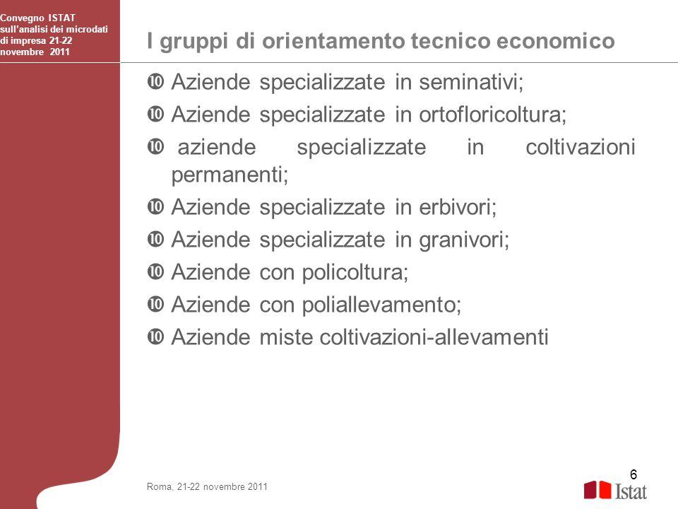 I gruppi di orientamento tecnico economico