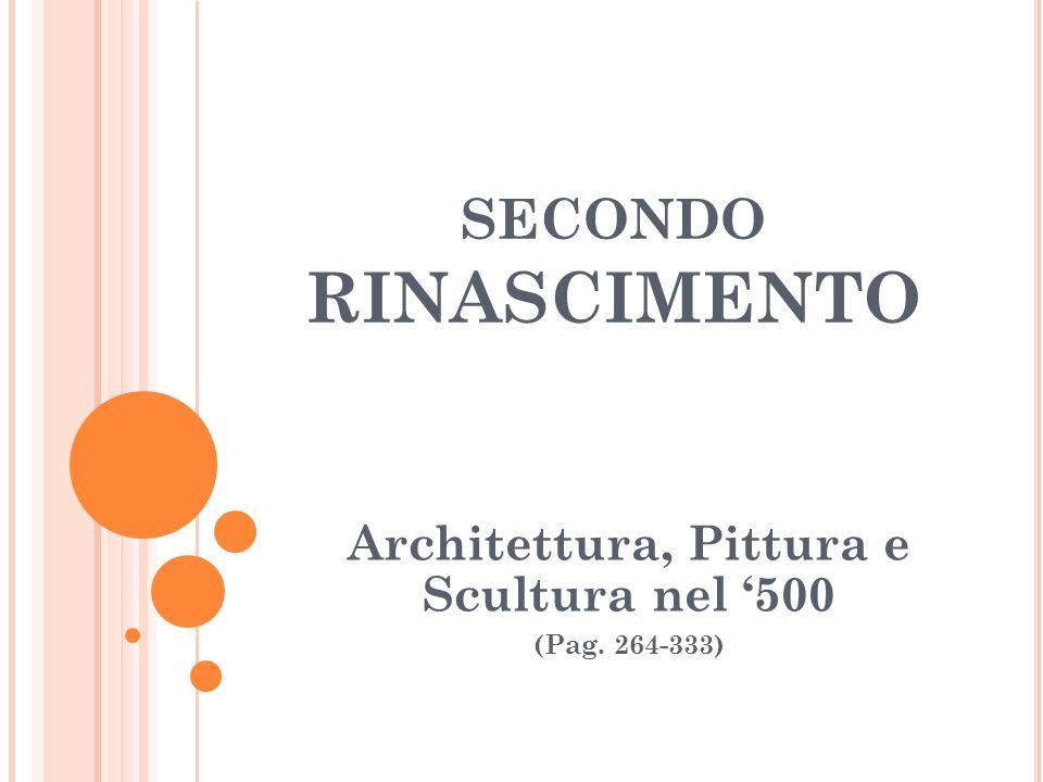 Architettura, Pittura e Scultura nel '500