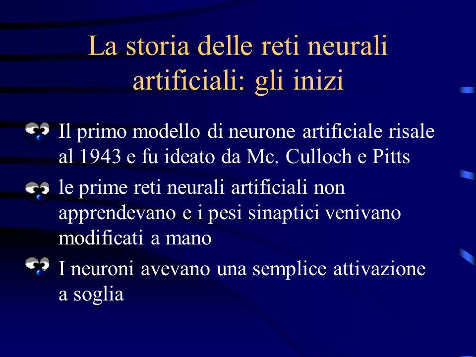 La storia delle reti neurali artificiali: gli inizi