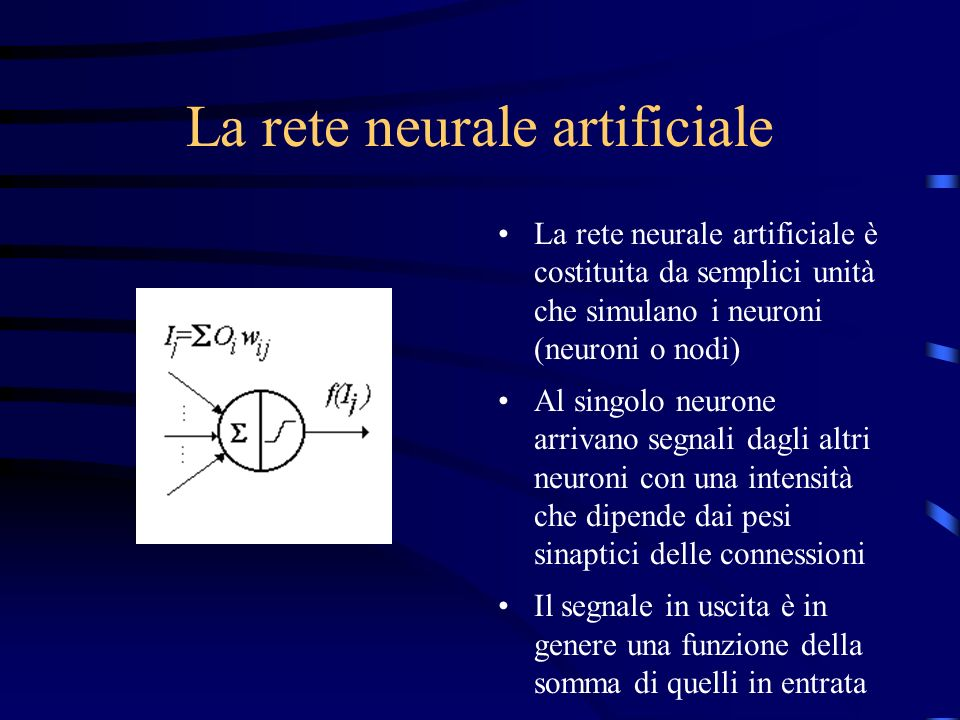 La rete neurale artificiale