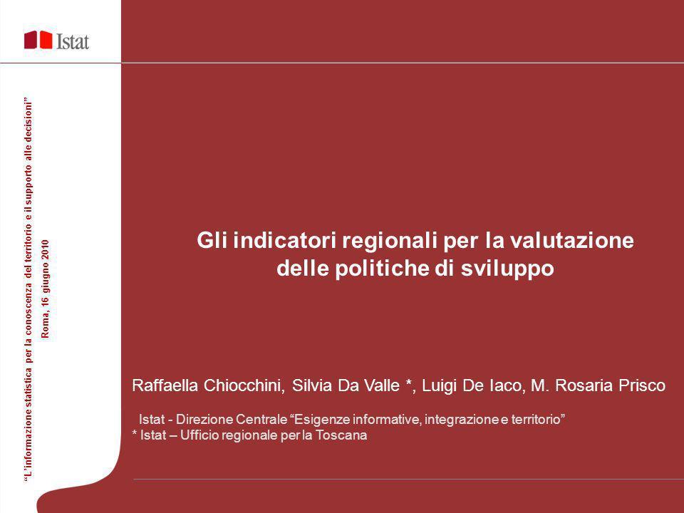 Gli indicatori regionali per la valutazione