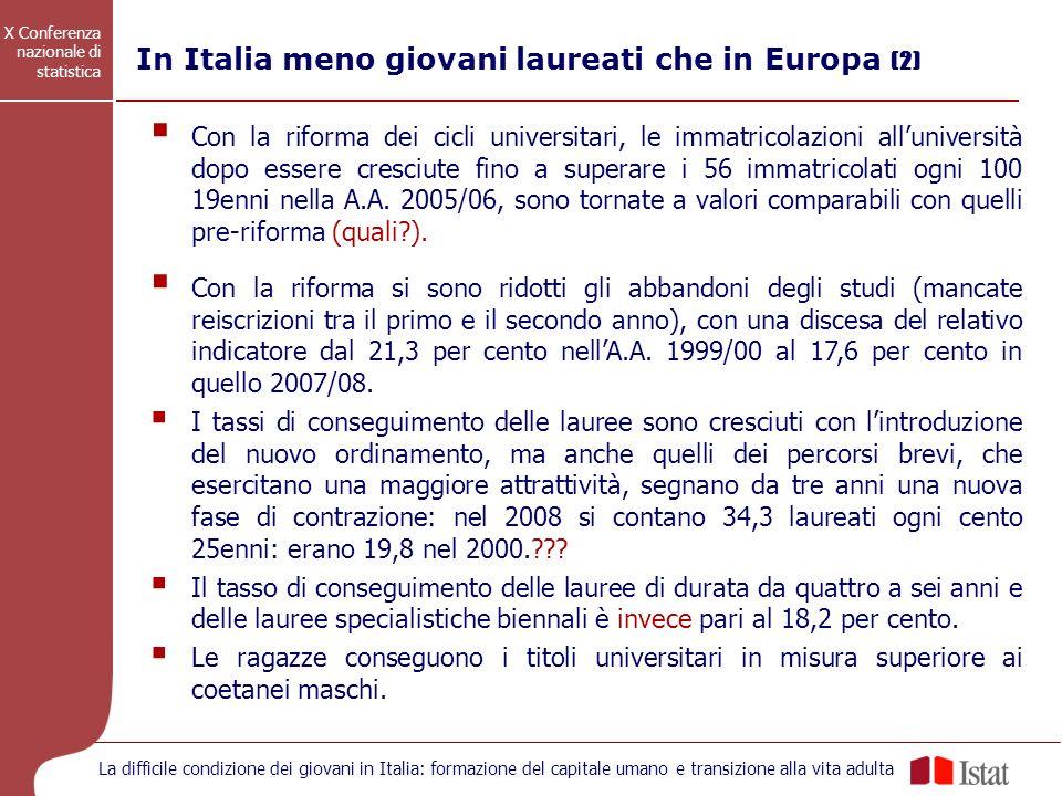 In Italia meno giovani laureati che in Europa (2)