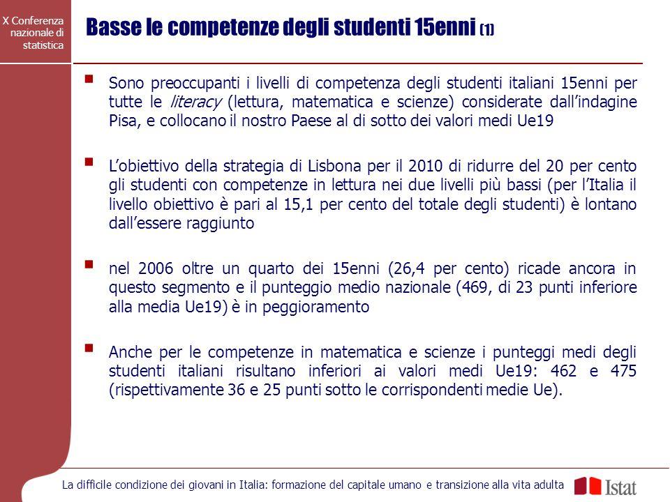 Basse le competenze degli studenti 15enni (1)