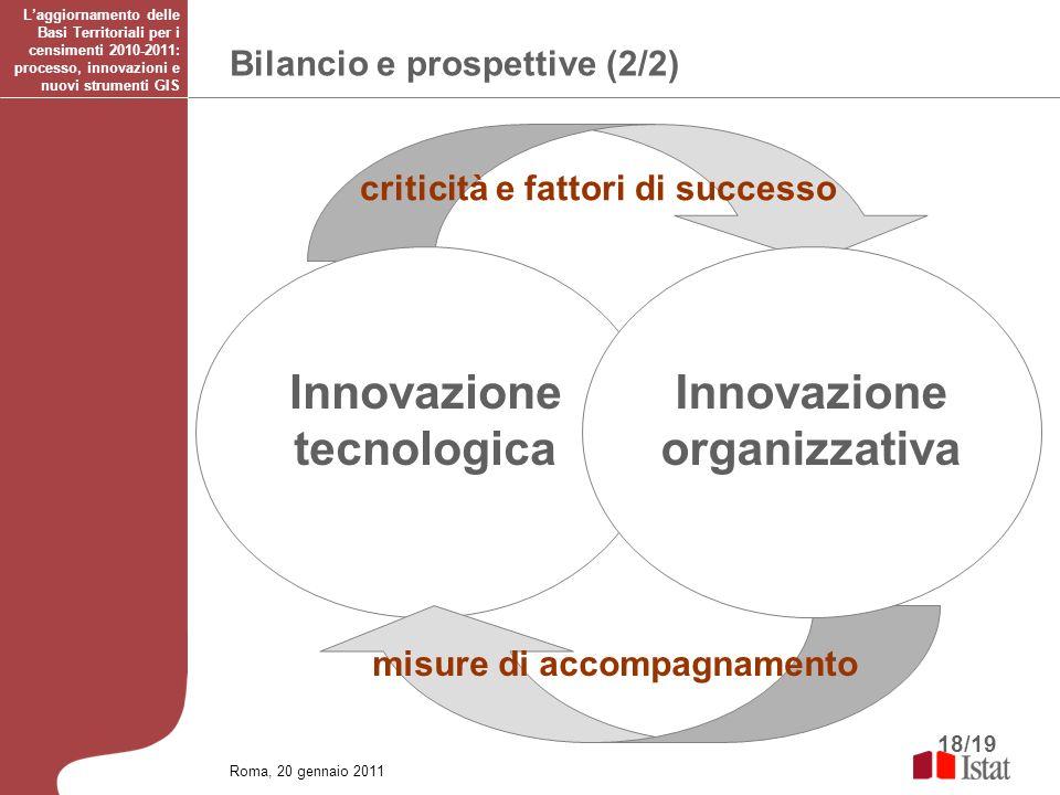 Innovazione tecnologica Innovazione organizzativa