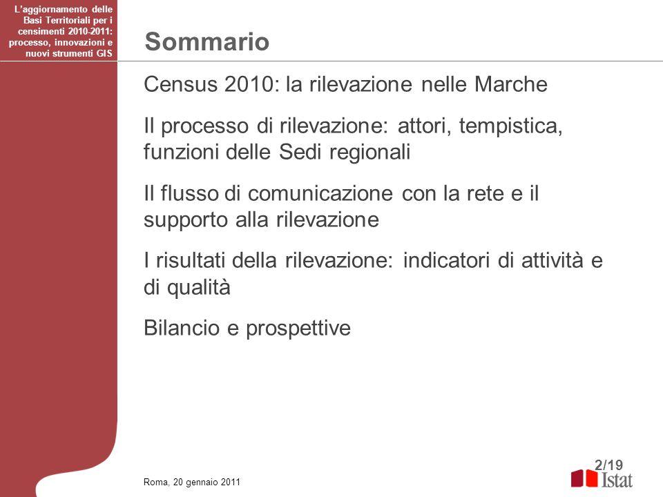 Sommario Census 2010: la rilevazione nelle Marche