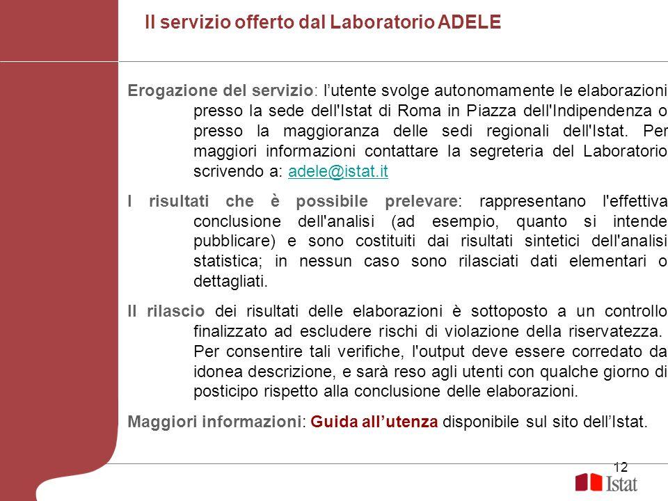 Il servizio offerto dal Laboratorio ADELE