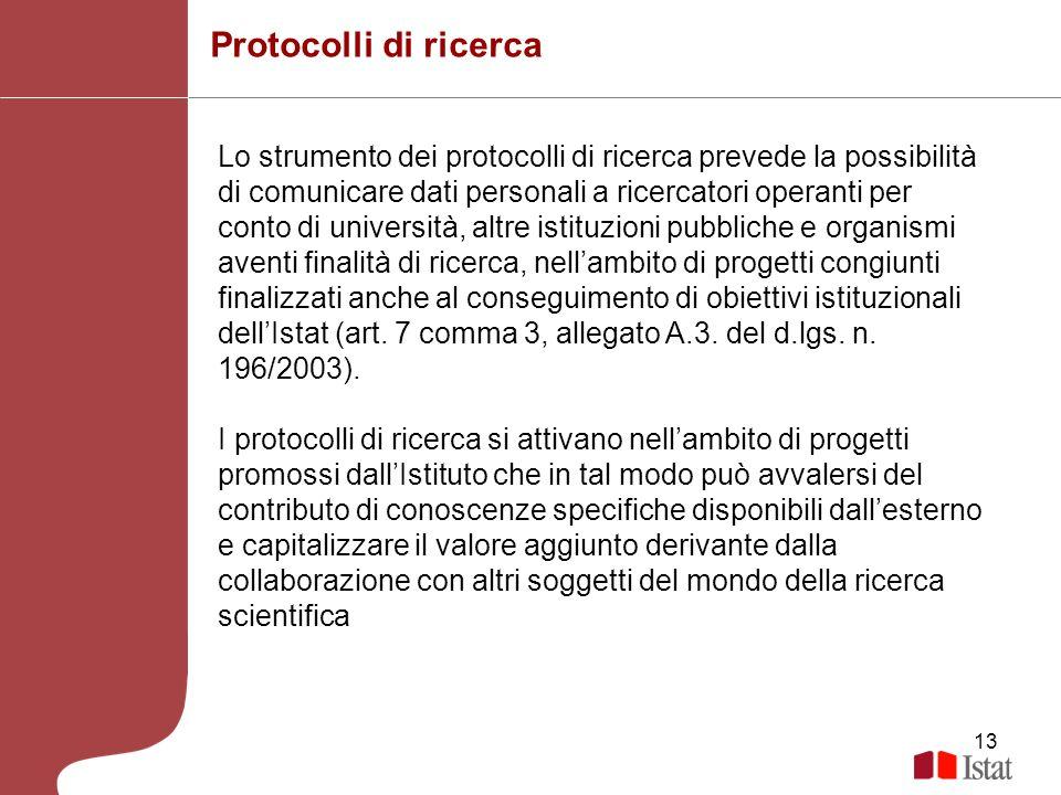 Protocolli di ricerca