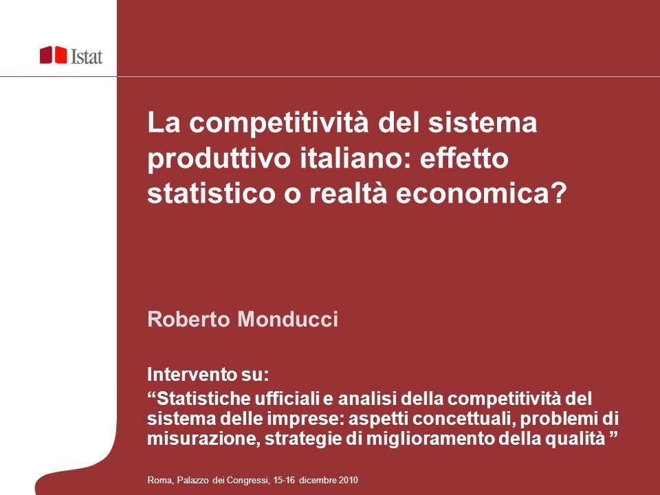 La competitività del sistema produttivo italiano: effetto statistico o realtà economica
