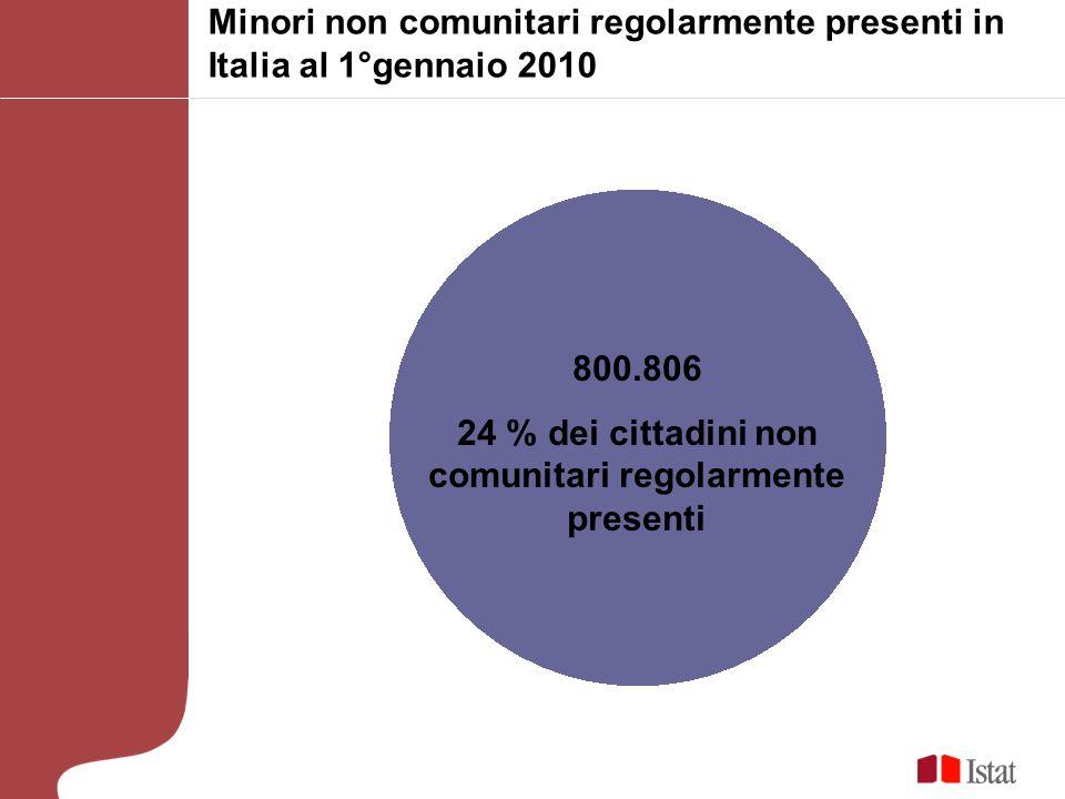 24 % dei cittadini non comunitari regolarmente presenti