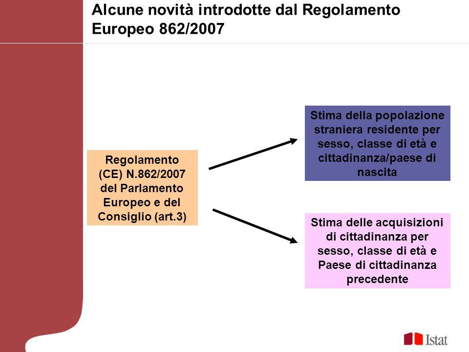 Alcune novità introdotte dal Regolamento Europeo 862/2007