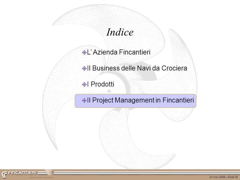 Indice L' Azienda Fincantieri Il Business delle Navi da Crociera