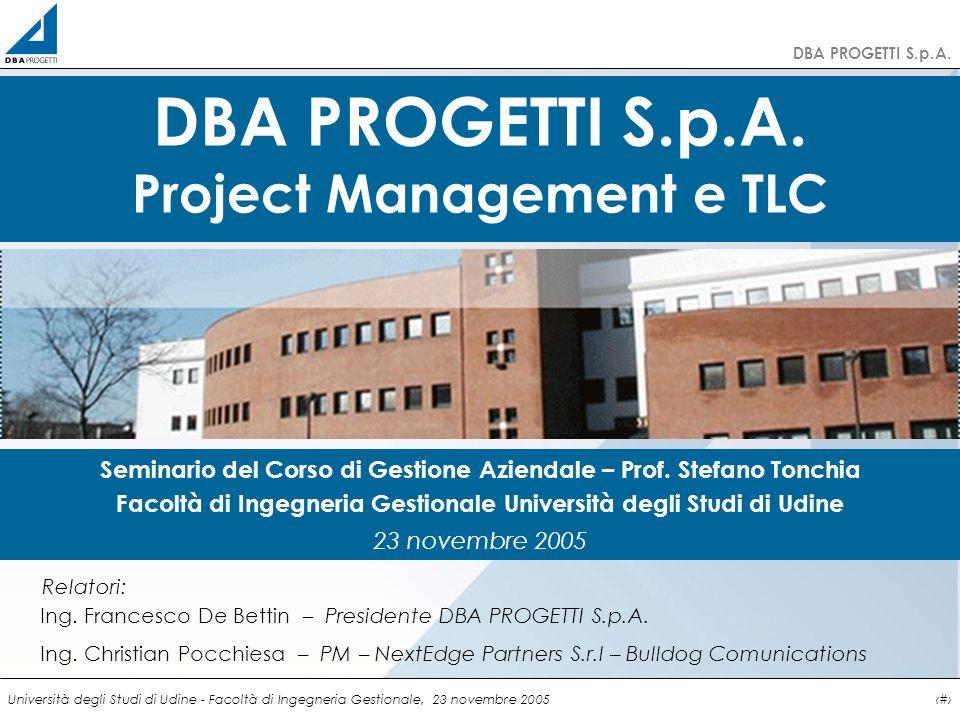 DBA PROGETTI S.p.A. Project Management e TLC