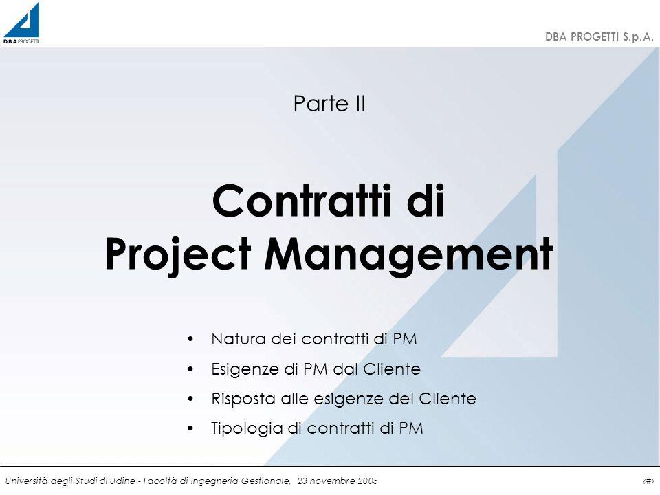 Contratti di Project Management