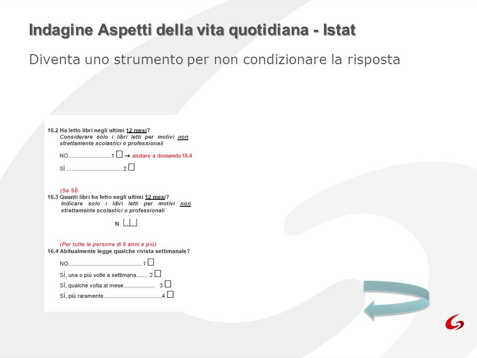 Indagine Aspetti della vita quotidiana - Istat