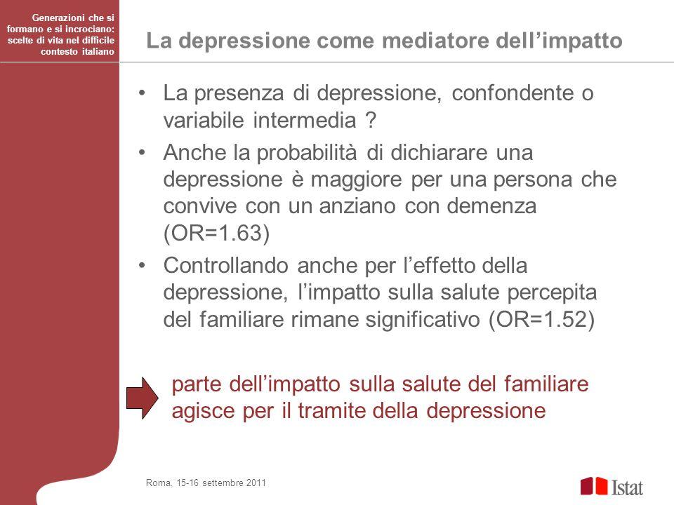 La depressione come mediatore dell'impatto