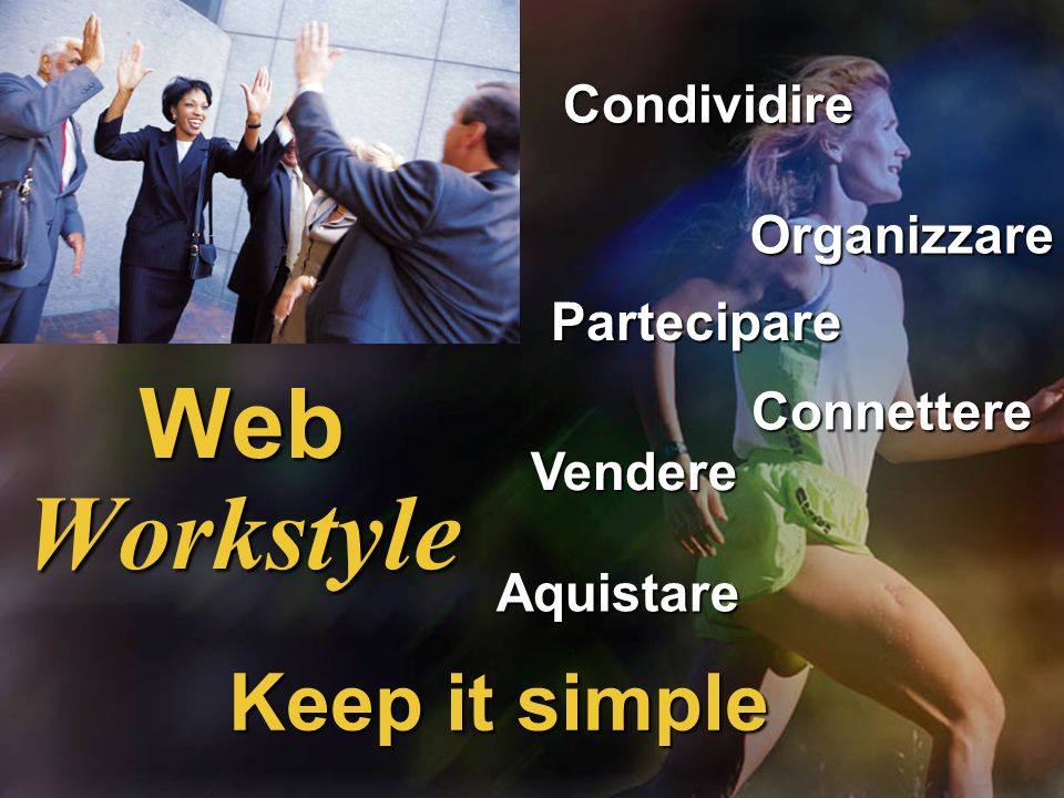 Web Workstyle Keep it simple Condividire Organizzare Partecipare