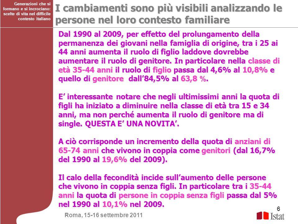 Generazioni che si formano e si incrociano: scelte di vita nel difficile contesto italiano