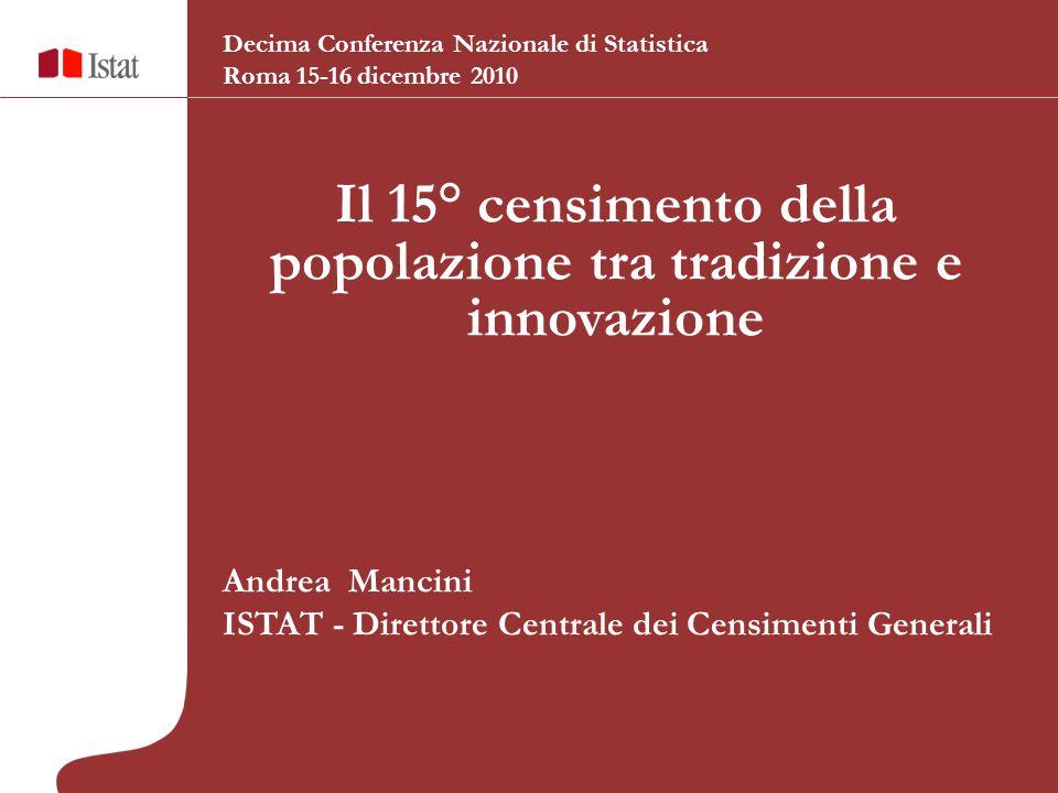 Il 15° censimento della popolazione tra tradizione e innovazione