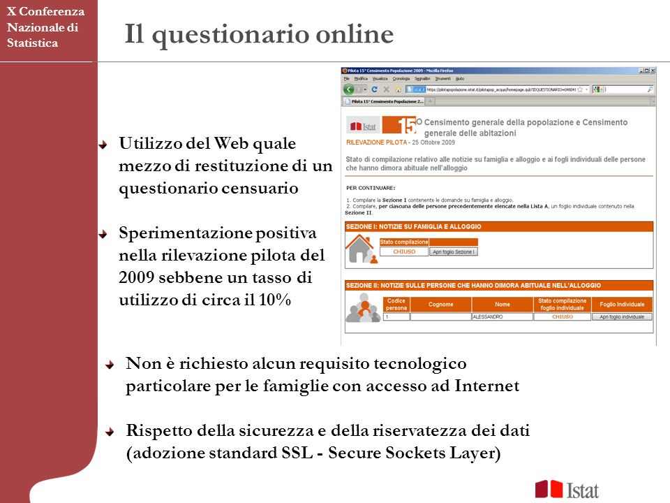 Il questionario online