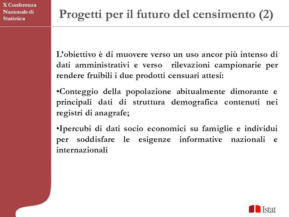 Progetti per il futuro del censimento (2)