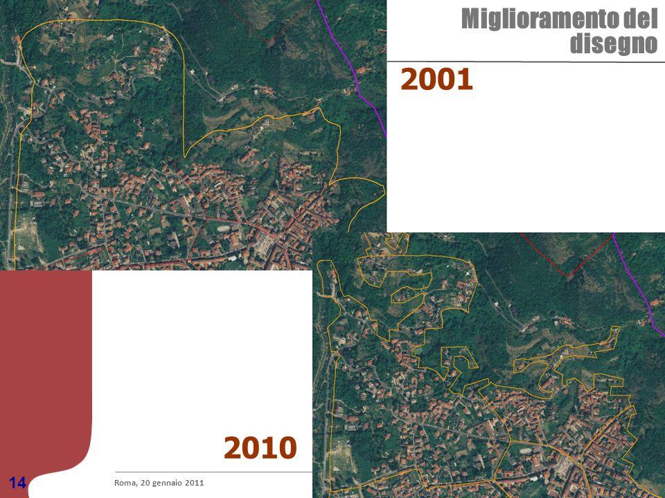 2001 2010 Miglioramento del disegno 14 Roma, 20 gennaio 2011