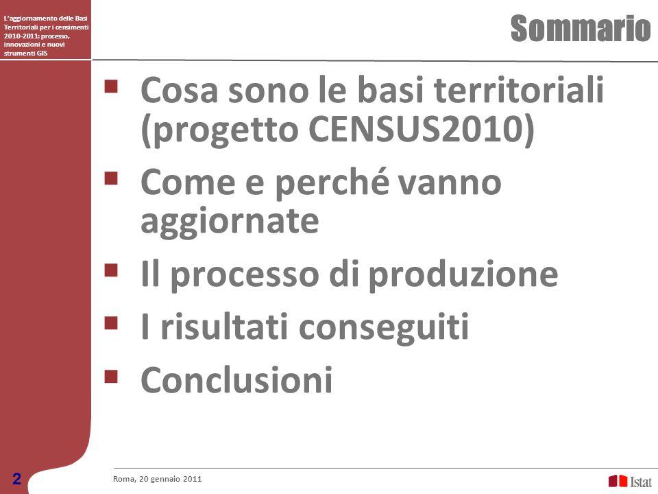 Cosa sono le basi territoriali (progetto CENSUS2010)