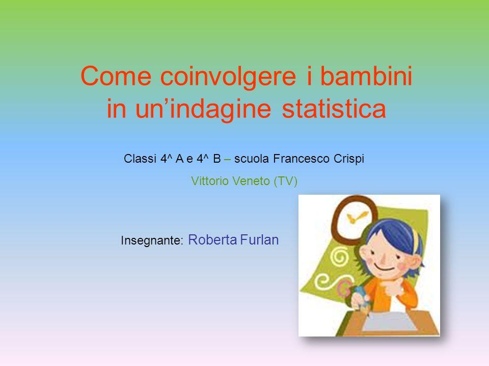Come coinvolgere i bambini in un'indagine statistica